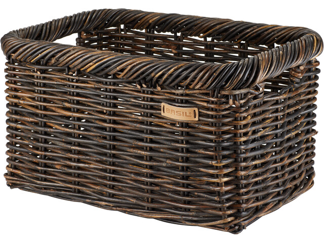 Basil Noir Rotan L Front Wheel Basket, marrón